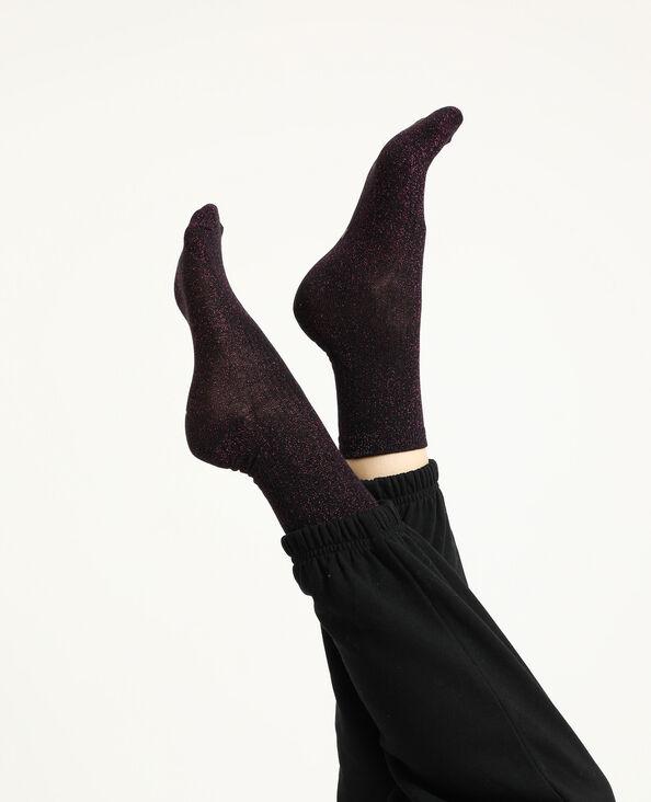 Lot de 2 paires de chaussettes paillettes rose