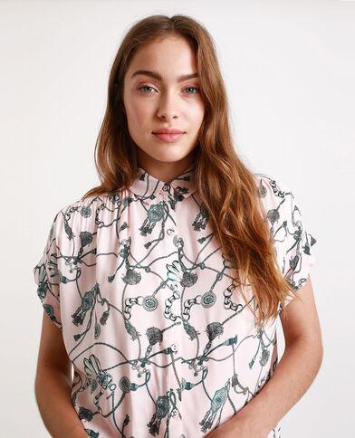 Chemise à imprimé rose pâle