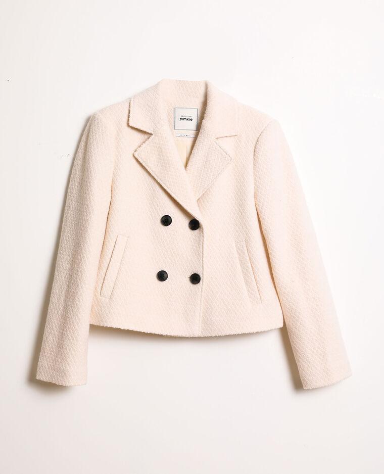 Manteau court blanc cassé