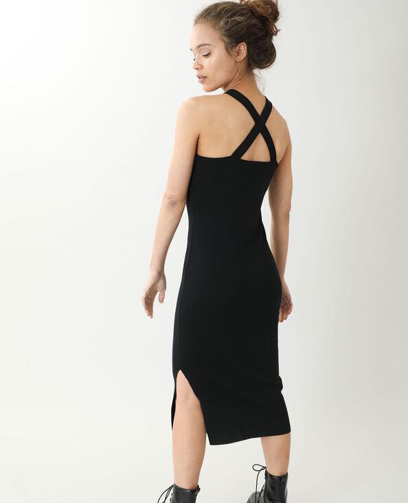 Lange strakke jurk zwart - Pimkie