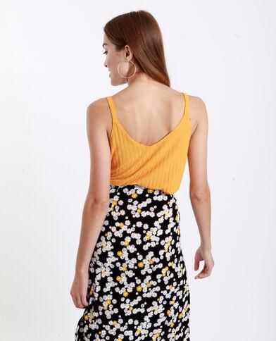 Topje met schouderbandjes geel