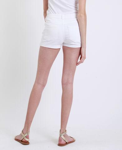 Jeansshort wit