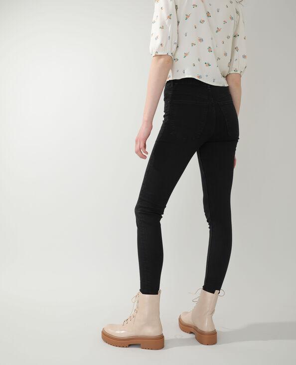 Skinny jeans met hoge taille zwart - Pimkie