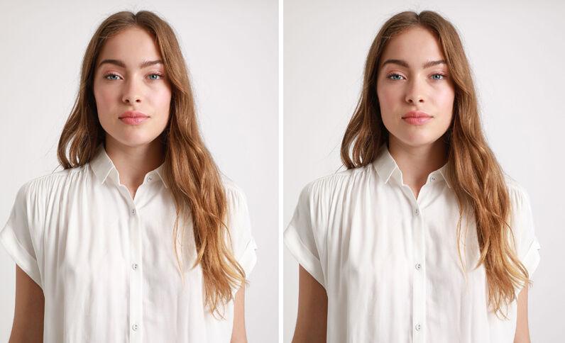 Hemd met korte mouwen gebroken wit