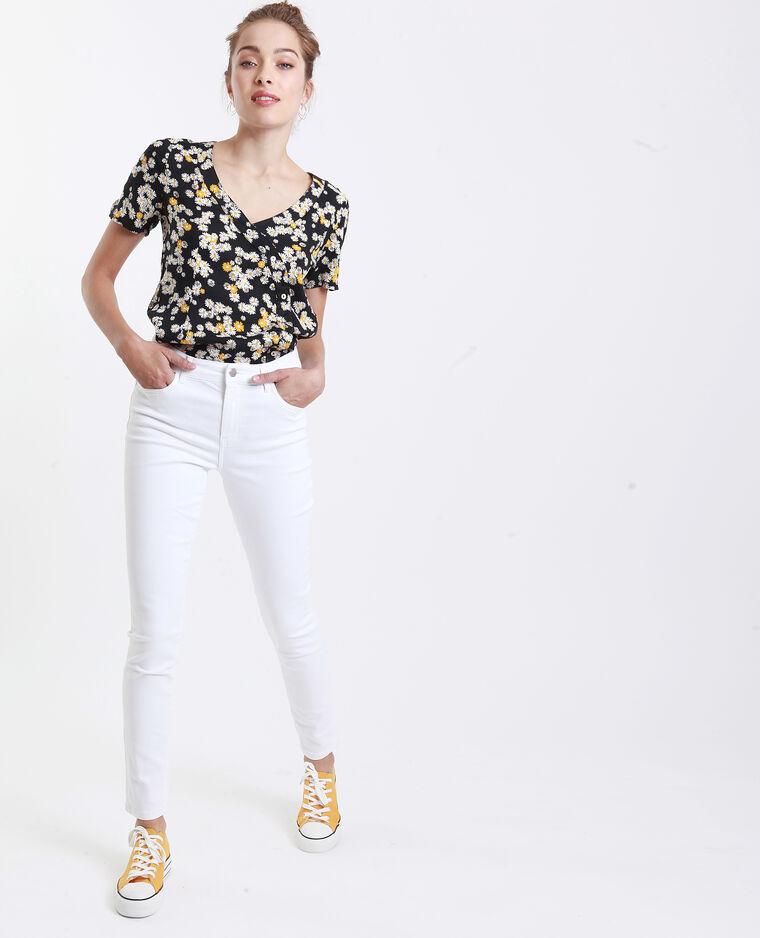 Jean skinny mid waist blanc