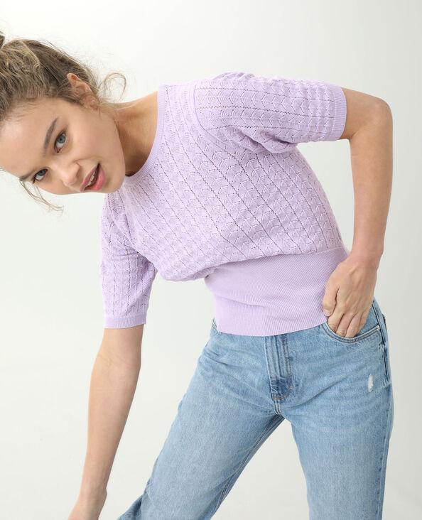 Kleine trui met korte mouwen violet