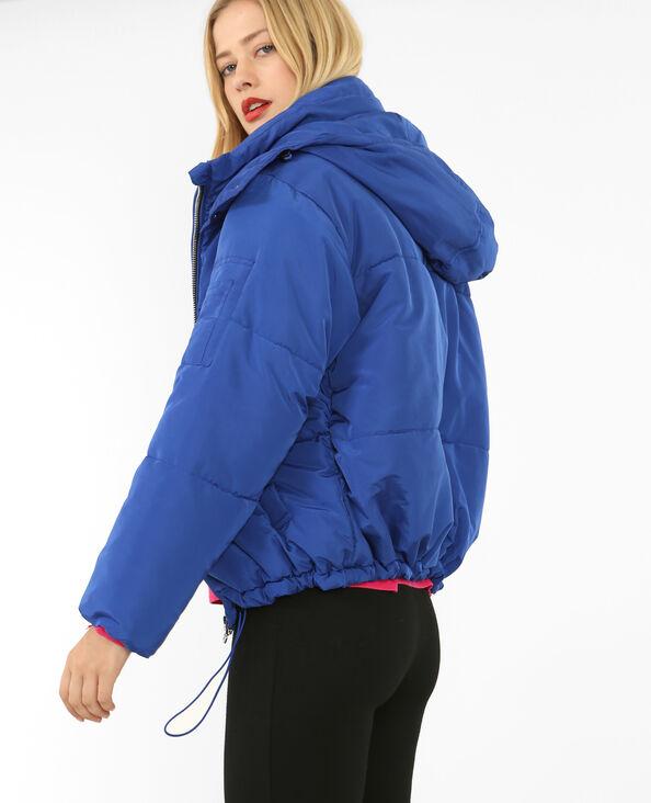 Oversized donsjas elektrisch blauw