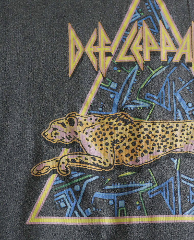 Def Leppard T-shirt antracietgrijs