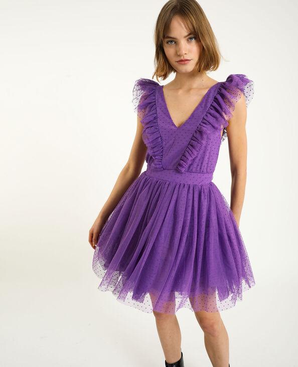 Robe tutu plumetis violet
