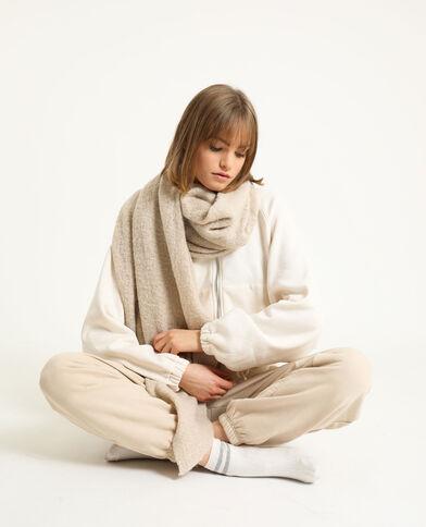 Zachte sjaal geweven beige