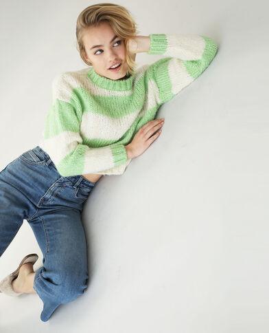 Dikke gebreide trui groen