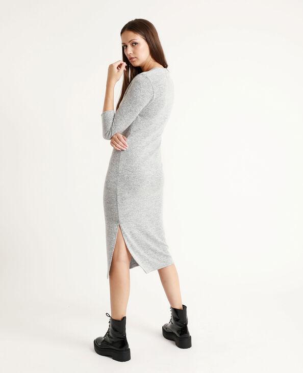 Lange jurk gemêleerd grijs