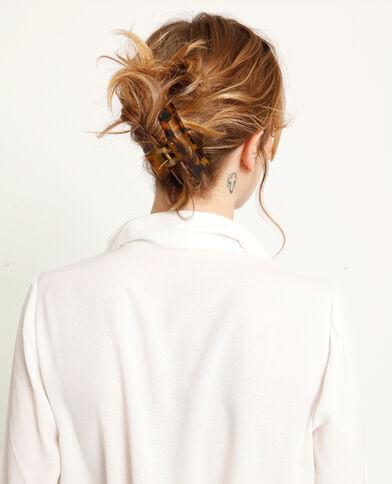 Haarklem kastanjebruin