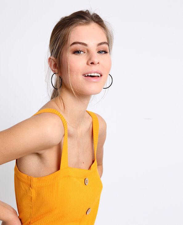 Topje met knopen geel