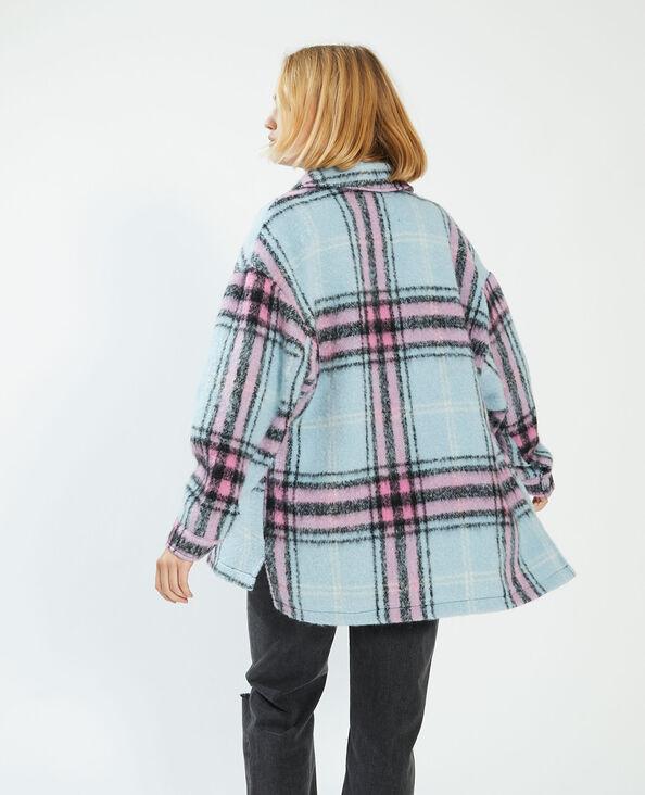 Geruit overhemd met wol blauw - Pimkie