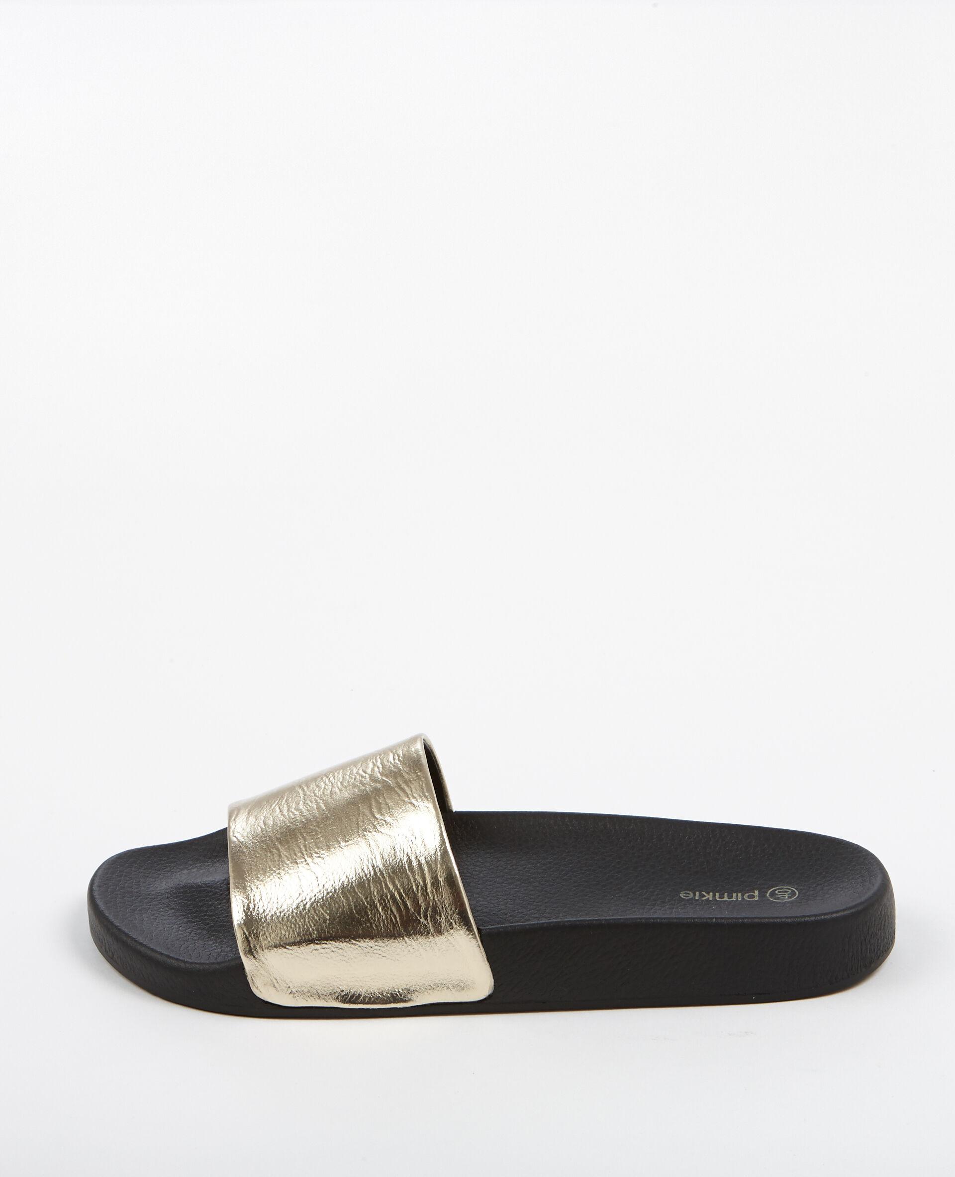 Sandalen Met Goudkleurig Platte Riempje 902751g06a00Pimkie NX8n0wOPk