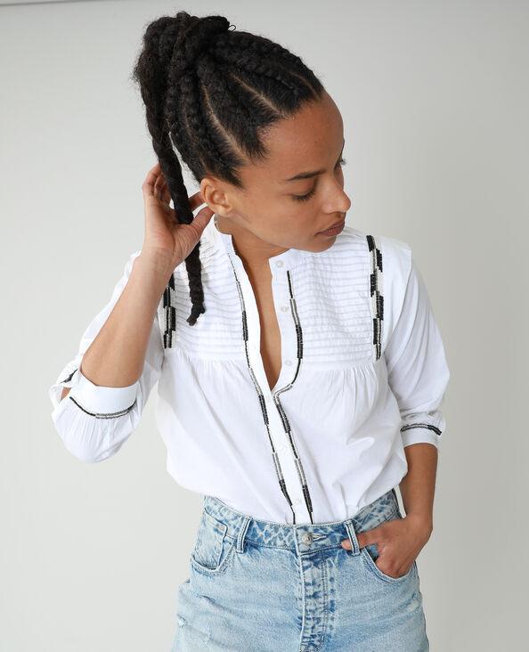 Hemd met parels wit - Pimkie