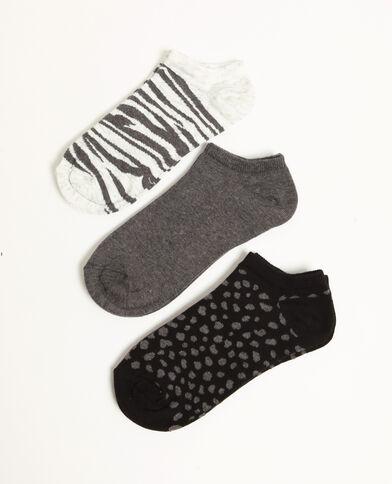 Set lage sokken zwart
