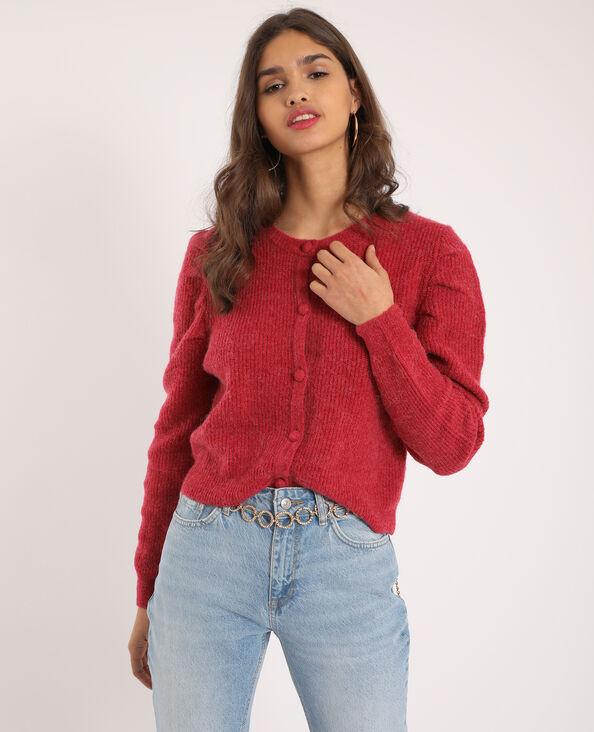 Vest met ballonmouwen rood