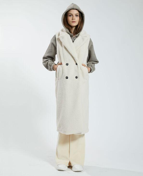 Lange jas zonder mouwen beige - Pimkie