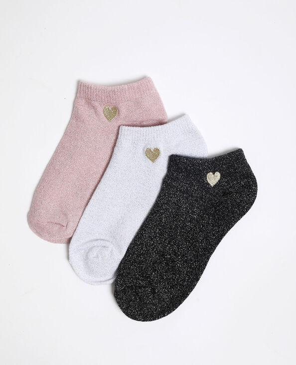 Lage lurex sokken zwart