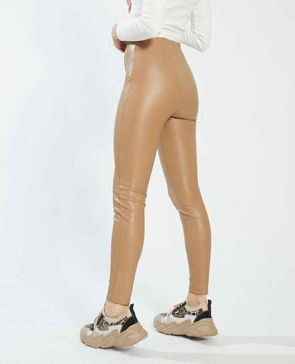 Legging van kunstleer beige - Pimkie