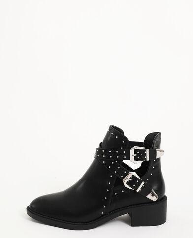 Laarzen met studs zwart