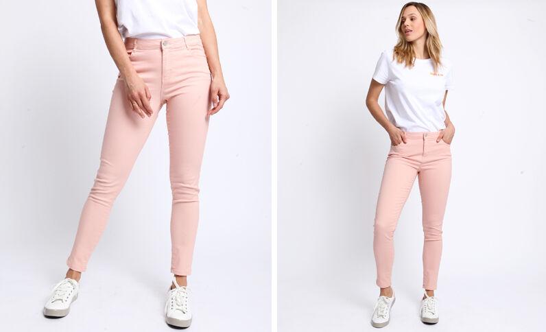 Push-up broek met middelhoge taille roze