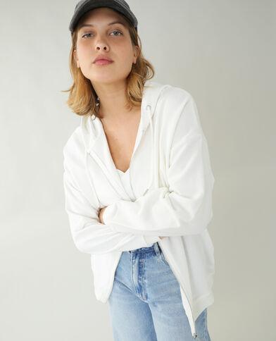 Oversized hoodie gebroken wit - Pimkie