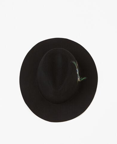 Fedora à patch brodé noir