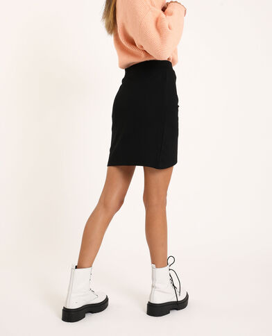 Korte gedrapeerde rok zwart