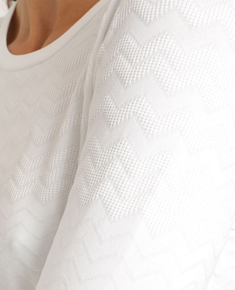 T-shirt fantaisie blanc cassé