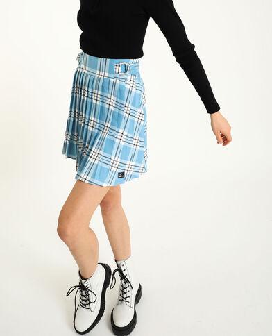 Geplooide rok blauw