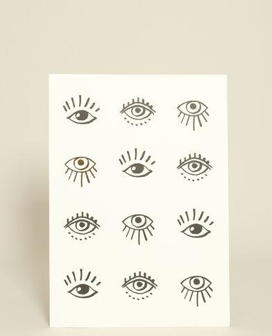 Muurposter met print grijs