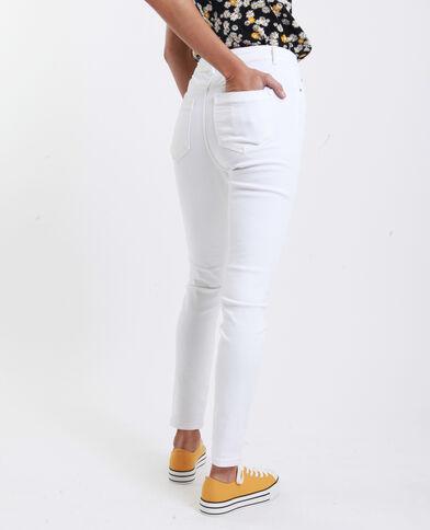 Skinny jeans met hoge taille wit