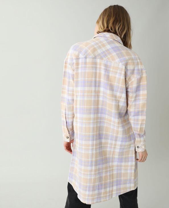 Lang oversized hemd beige