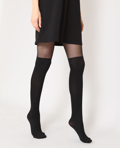 Collants chaussettes noir