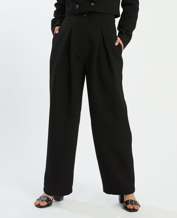 Pantalon habillé à pinces noir - Pimkie