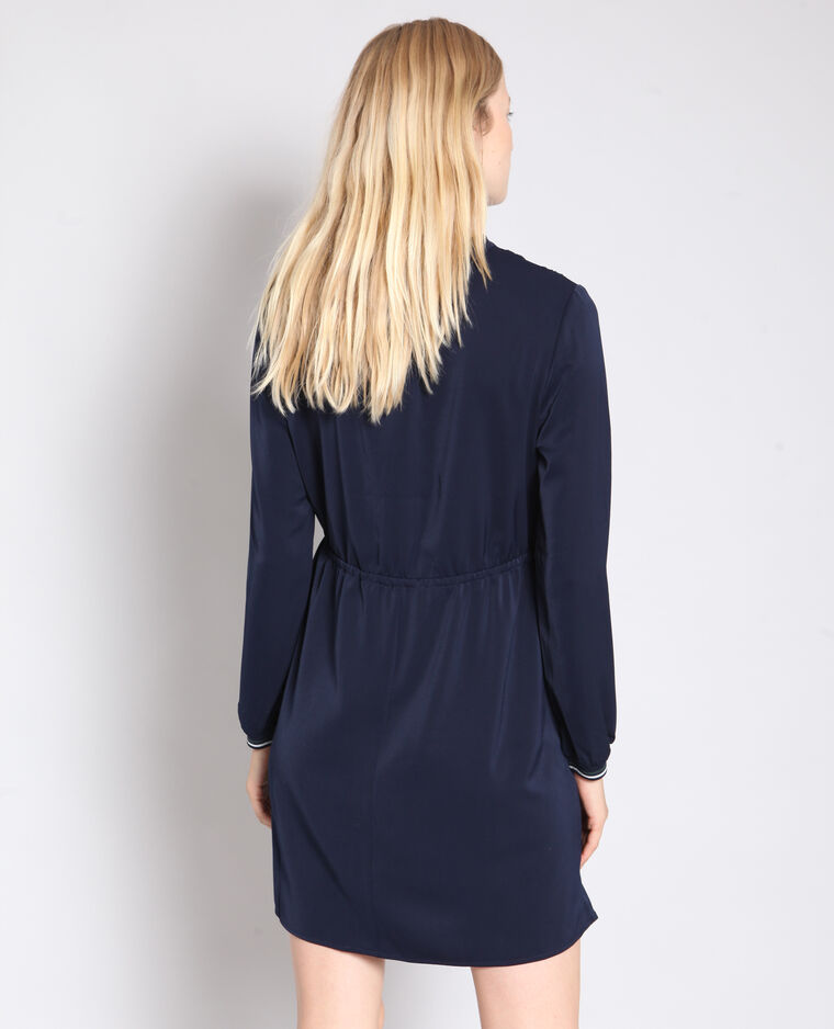Robe fluide manches sporty bleu marine