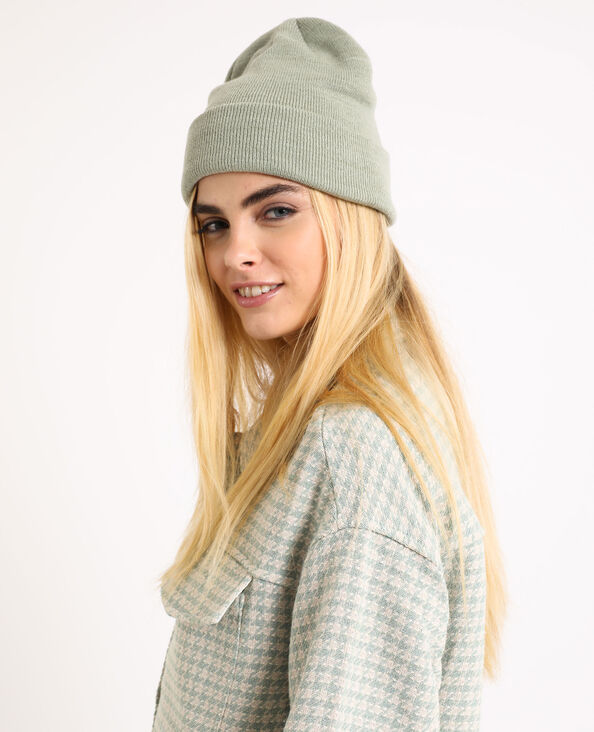 Muts van tricot groen