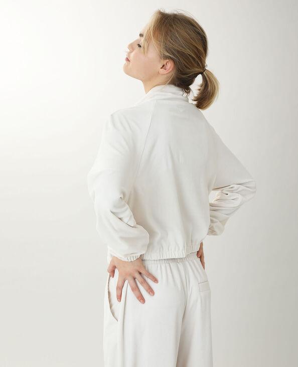 Jasje van velours gebroken wit