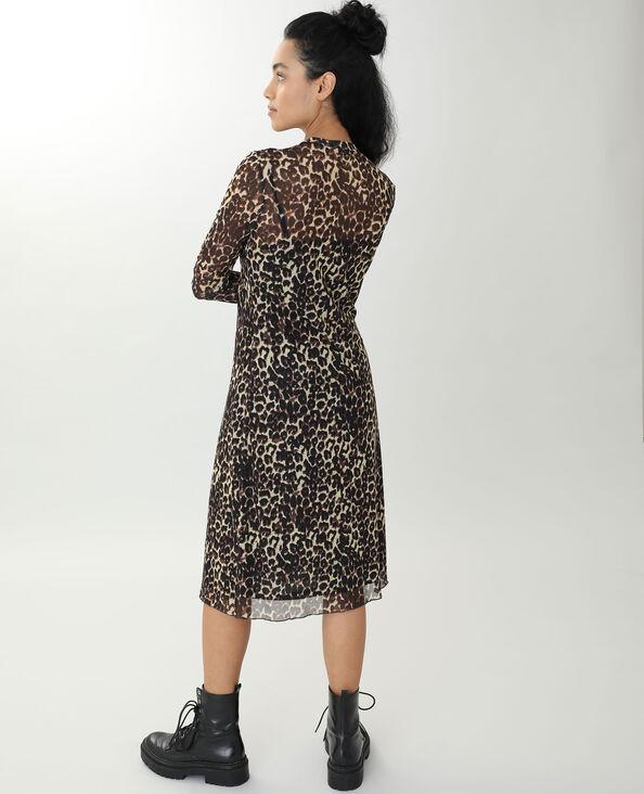 Doorzichtige jurk kastanjebruin - Pimkie