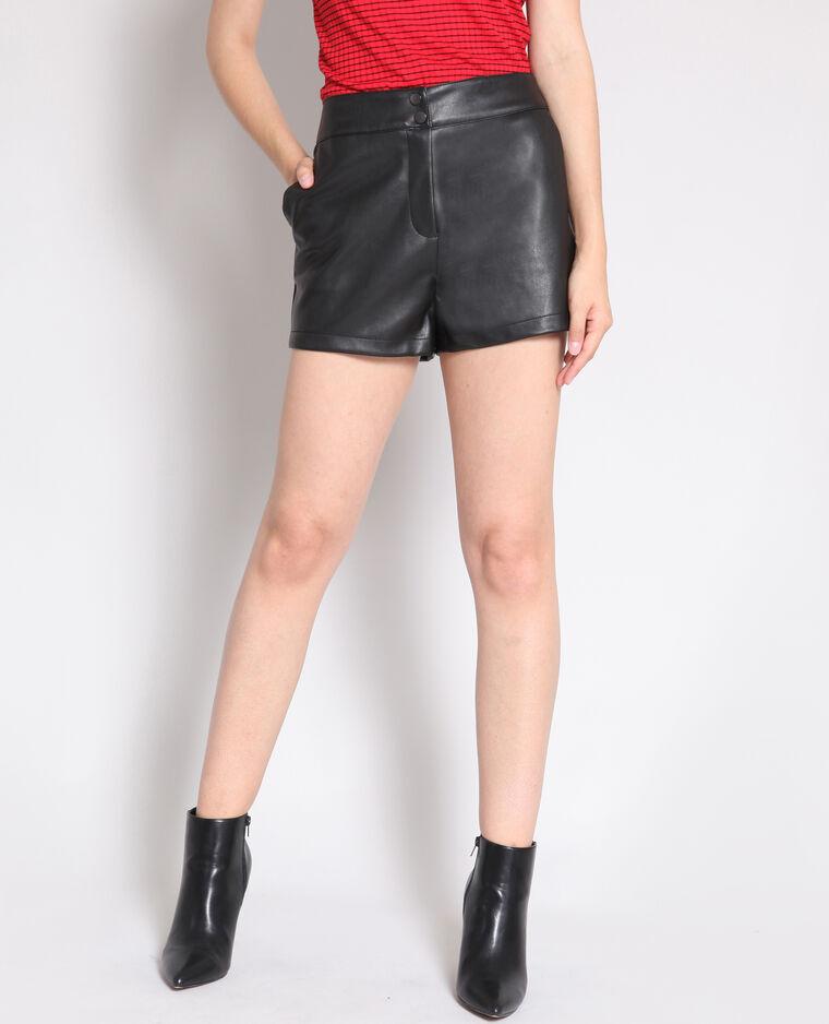 Short en faux cuir noir - 140687899A08   Pimkie 8a2777172932