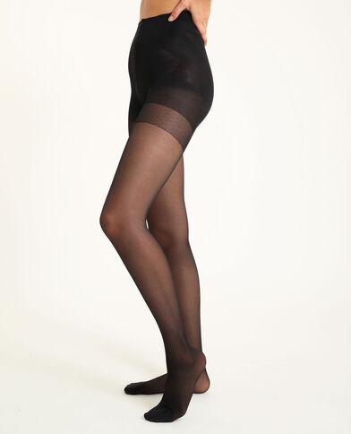 Collants sculptants 30 deniers noir