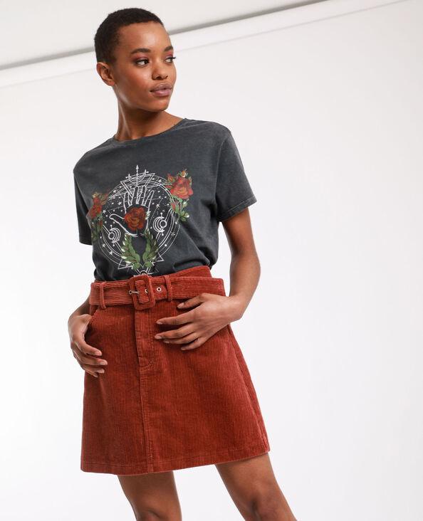 Fluwelen rok roestkleur