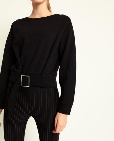Korte sweater zwart