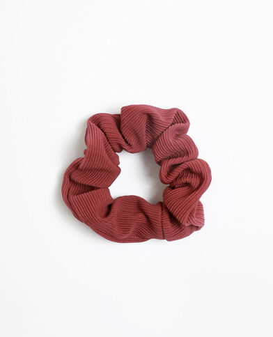 Scrunchie met textuur bordeauxrood