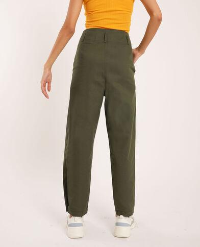 Pantalon à plis vert