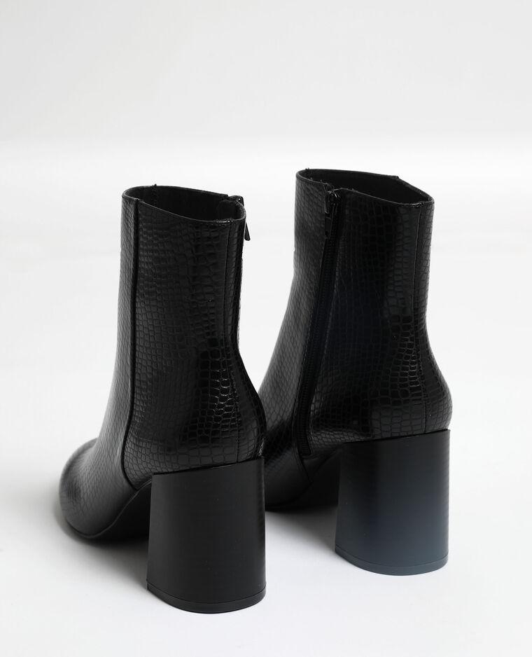 Bottines en écailles noir