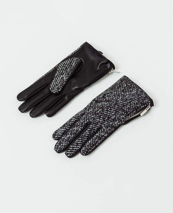 Handschoenen met rits zwart